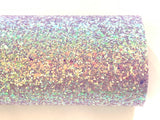 Purple Holographic Sequin Chunky Glitter Canvas
