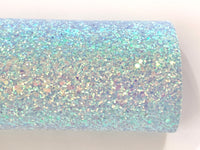 Blue Holographic Sequin Chunky Glitter Canvas