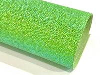 Green Iridescent Pebble Embossed Faux Leatherette