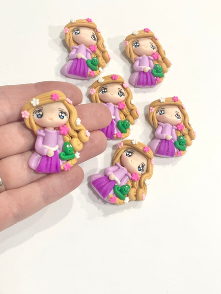 Rapunzel Clay Bow Embellishment - Dazzle Maker August Pre order