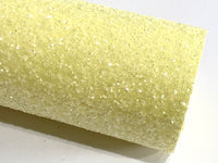 Lemon Sugar Chunky Glitter A4 Fabric Sheet