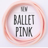 BALLET PINK Dainties Super soft headbands from Nylon Headbands UK