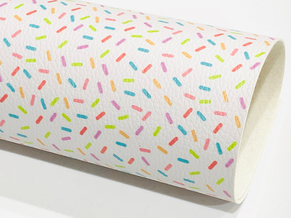 Candy Sprinkles Faux Leatherette Sheet