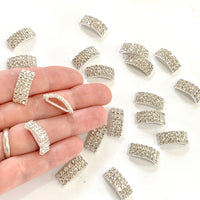 Rhinestone Arched Buckle Sliders