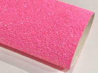 Neon Pink Chunky Glitter Fabric Sheets