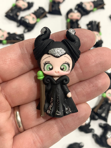 Maleficent Bow Clay Embellishment