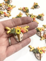 Autumn Deer Clay Embellishment