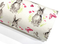 Easter Bunny Floral Felt Fabric Sheets