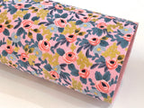 Les Fleurs Double Sided Fabric Sheets - Pink and Metallic Gold