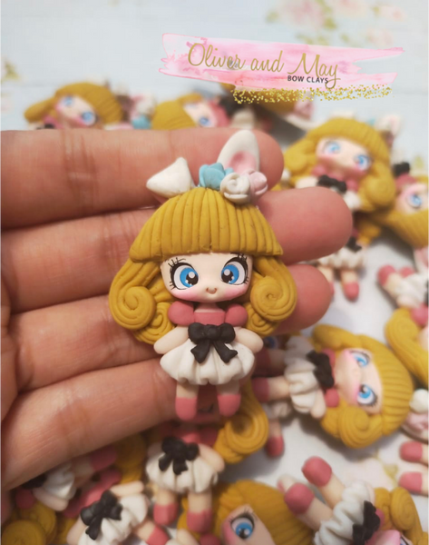 Easter Girl Bow Clay - In Stock Easter Bow Clays
