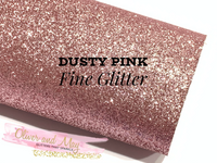 Dusty Pink Fine Glitter Fabric Sheet Thin 0.65mm A4 or A5 Sheet