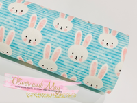 Easter Rabbit Fabric Felt Glitter Duo A4 sheets - Blue Pink Theme