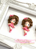 Pink Ballerina Girls Bow Clays