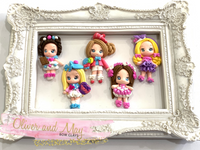 SALE Sweet Candy Girls Bow Clays