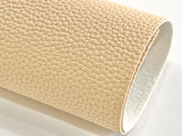 Walnut Cream Faux Leather 1.1mm Thickness