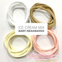 ICE CREAM MIX 20 Pack Supersoft Baby Headbands