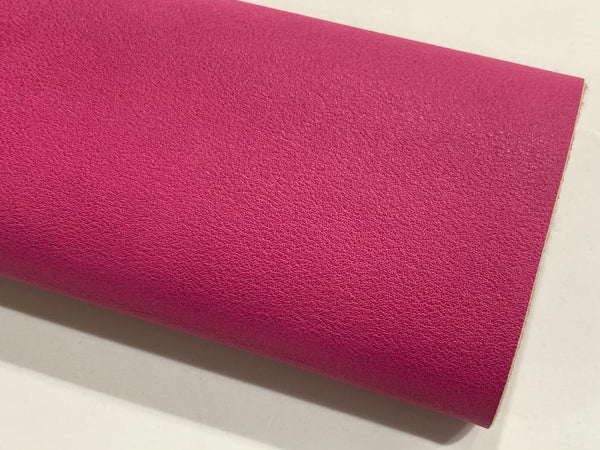 Raspberry Smooth Faux Leatherette Fabric 1.2mm thick