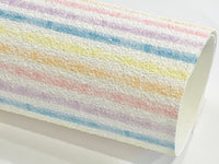 Pastel Stripes Chunky Glitter Fabric Sheets