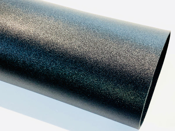 Smooth Black Faux 1.2mm Leather fabric A4