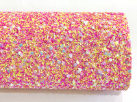 Candy POP Chunky Glitter Fabric Sheet