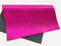 Magenta Metallic Leatherette 1.2mm Faux Leather Sheet A4