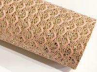 Mermaid Fish Scale Glitter Lace Fabric Sheet A4 - Glitter Lace
