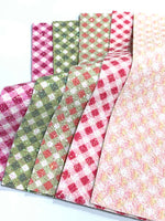 Plaid Chunky Glitter Fabric Sheet - Choice of 5 Colours