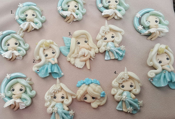 Frozen Blue Romance Bow Clay - in stock