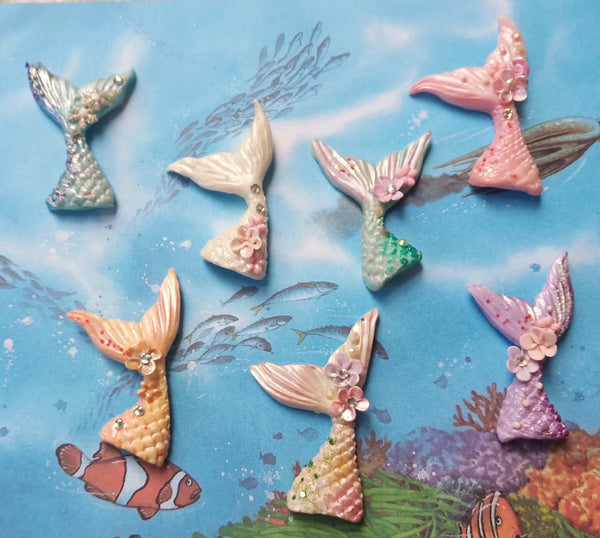 PREORDER Mermaid Tails Clay Bow Centres