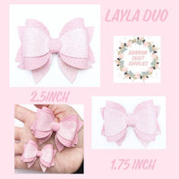Layla Hairbow Trace and Cut Bow Template -In NEW 1.75 and 2.5 inch size