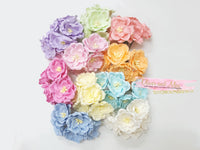 5pcs - Mulberry Paper Flowers - 4cm Magnolias - Candy Pink