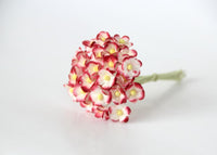 Bulk 50 Pack - Mulberry Paper Flowers - Mini 1cm Cherry Blossoms - Red White