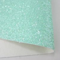 Mint Green Chunky Glitter Fabric Sheet A5 orA4 Size Pastel Green Mint Glitter Fabric - 8X11 Glitter Sheet