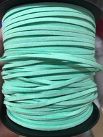 Mint Faux Suede Cord - 5m - Mint Green Suede Cord