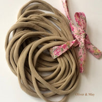 Thin Nylon Elastic Headbands | NUDE | 5-6 mm | 26cm