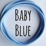 BABY BLUE Dainties Super soft headbands from Nylon Headbands UK