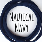 NAUTICAL NAVY Dainties Super soft headbands from Nylon Headbands UK