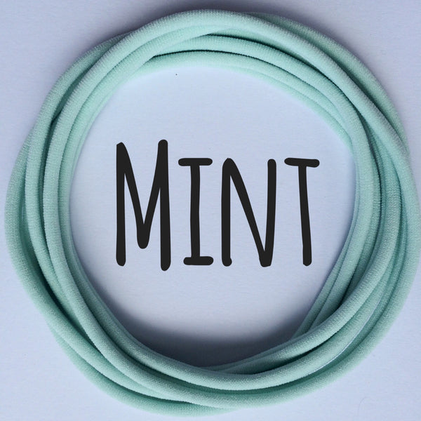 MINT Dainties Super soft headbands from Nylon Headbands UK