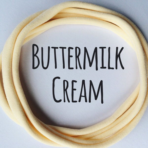 BUTTERMILK CREAM Dainties Super soft headbands from Nylon Headbands UK