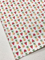 Pineapples and Watermelon Soft Leatherette Custom PU Leather A4 Sheet 0.8mm