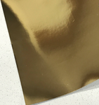 Gold Mirrored Square Leatherette 0.7mm Thickness Mirror Gold Glossy Leather