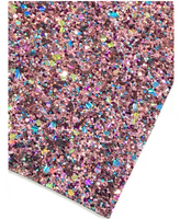 Winter Jewels Blacked Backed Canvas Chunky Premium Glitter Canvas Sheet 0.9mm Thick A4 Size - Teal or Rose Gold Pink