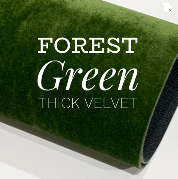 Forest Green Velvet 0.9mm Sturdy for Bows