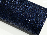 Navy Blue Glitter Fabric Sheet 0.9mm Thick A4 or A5 Sheets Chunky Navy Chunky Glitter fabric
