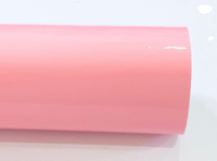Light Baby Pink Patent Leather A4 Sheet Glossy Smooth PU Leatherette - 0.75mm