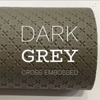 Dark Grey Cross Embossed Faux Leatherette A4 sheets