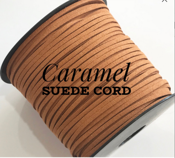 Caramel Brown Faux Suede Cord - 5m