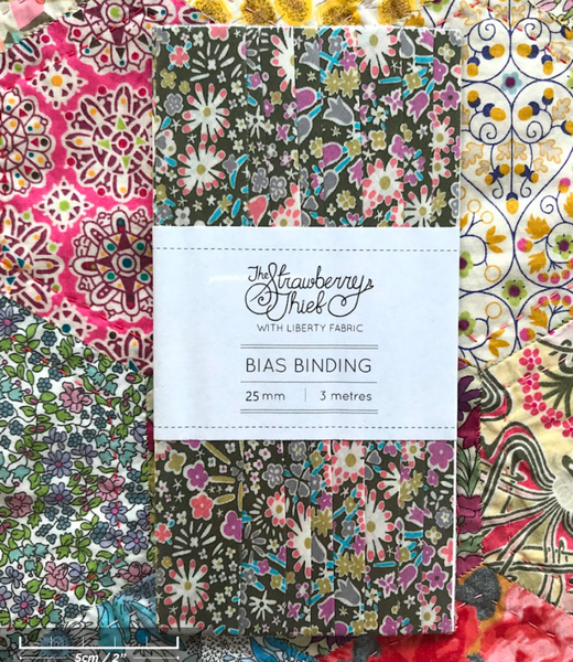 Koyoko E Liberty of London Bias Binding -25mm - 100% cotton Liberty Tana Lawn - 3m 3.28 Yards