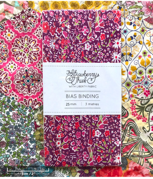 Koyoko D Liberty of London Bias Binding -20mm - 100% cotton Liberty Tana Lawn - 3m 3.28 Yards