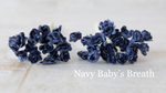 PRE ORDER 50 pcs Navy Baby's Breath  - Mulberry Paper Roses - 5mm